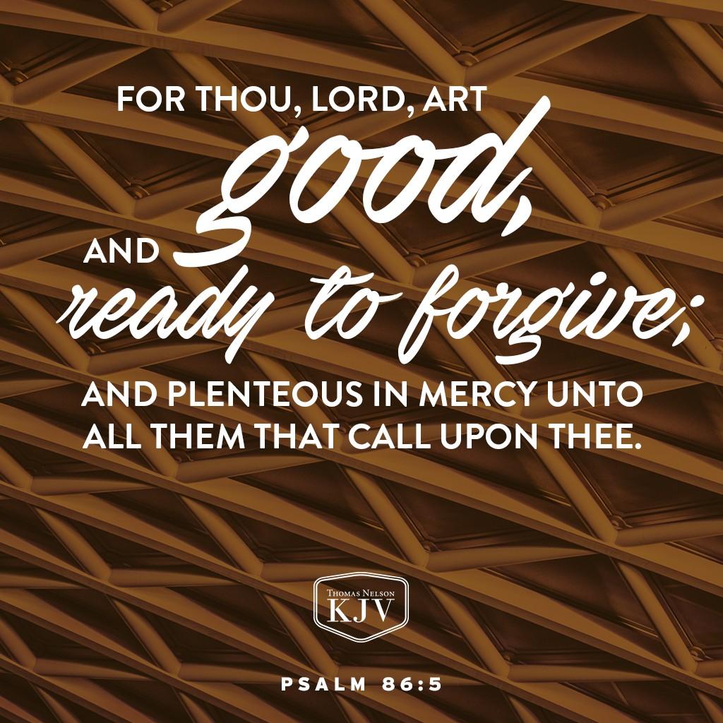 Kjv Verse Of The Day Psalm 86 5