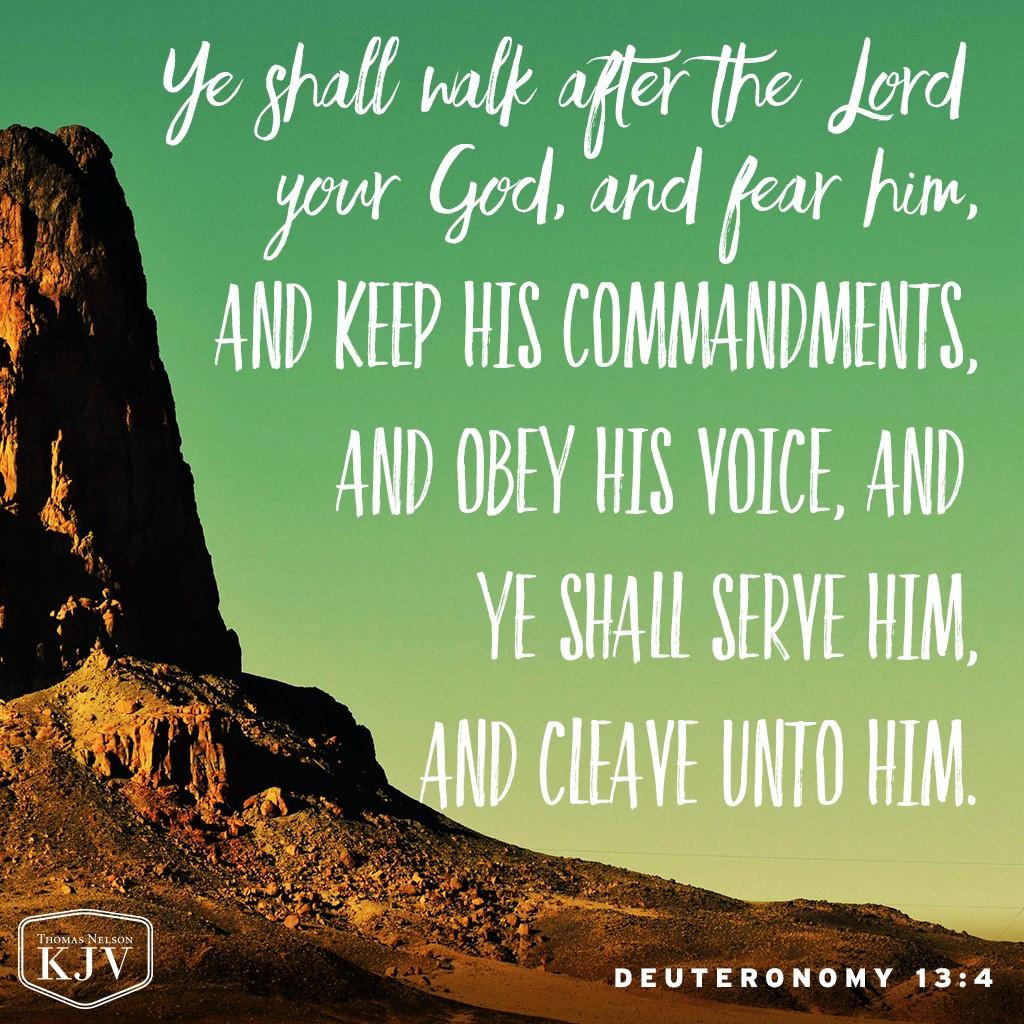 Kjv Verse Of The Day Deuteronomy 13 4