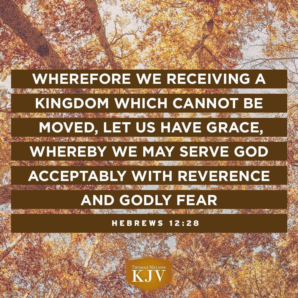 kjv verse of the day hebrews 12 28