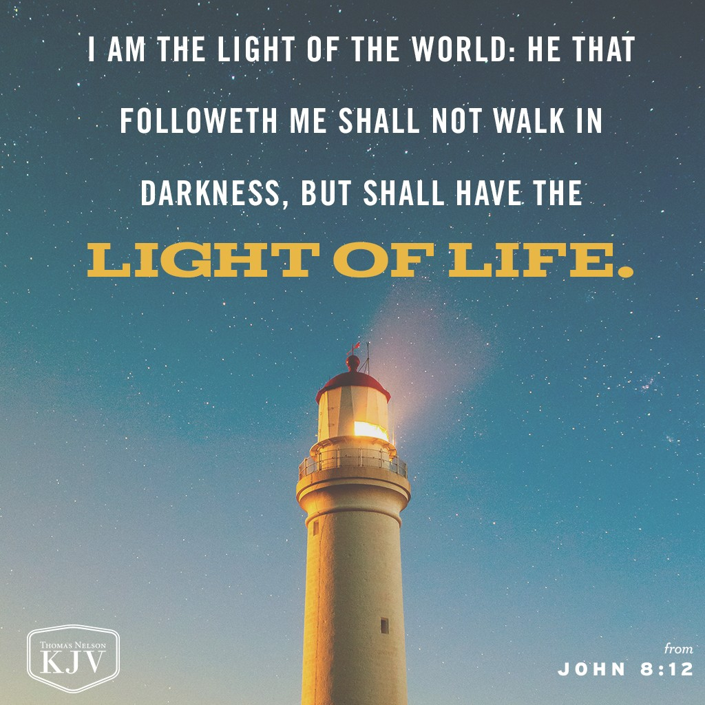 Kjv Verse Of The Day John 8 12
