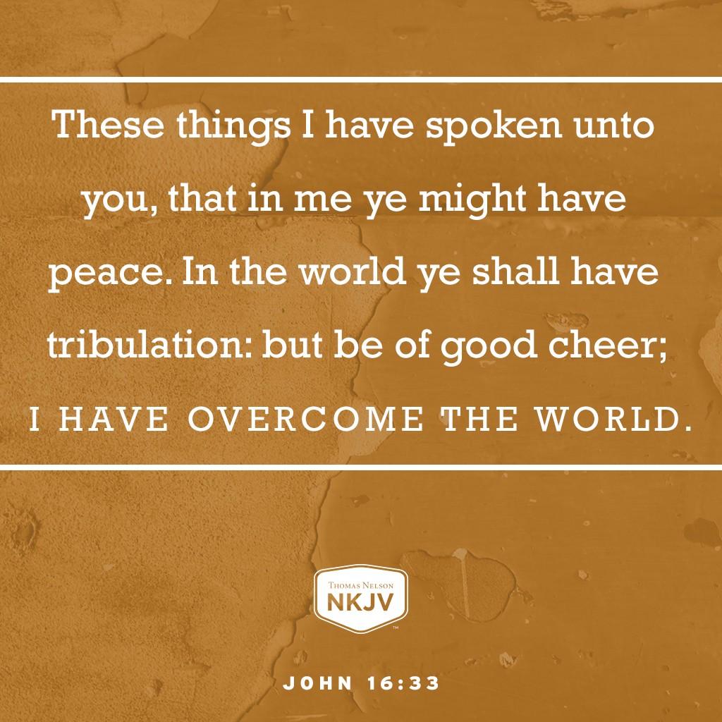KJV Verse of the Day: John 16:33