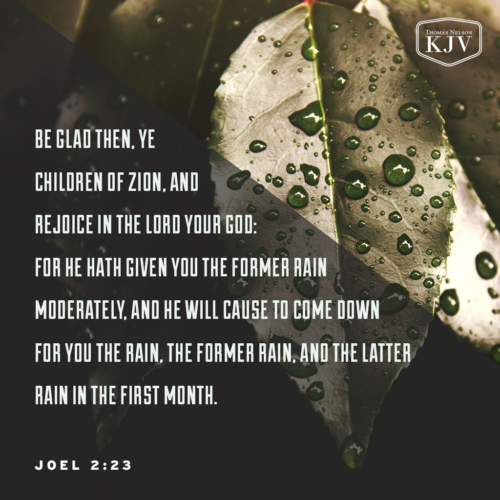 KJV Verse Of The Day: Joel 2:23