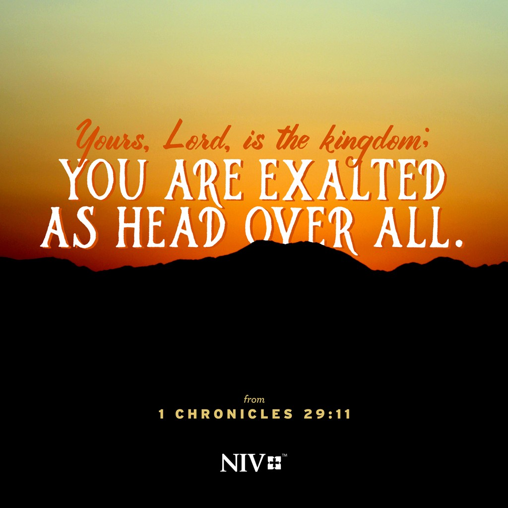 NIV Verse Of The Day: 1 Chronicles 29:11
