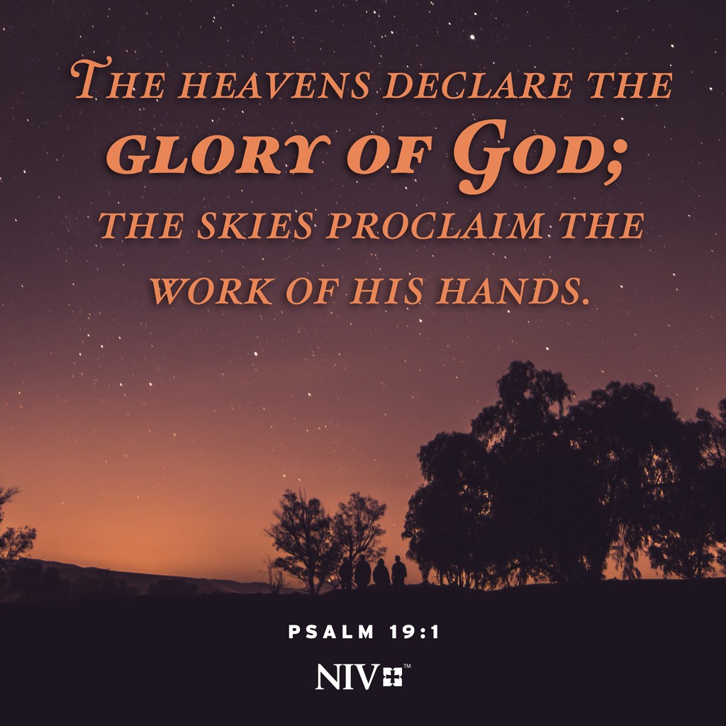NIV Verse of the Day: Psalm 19:1-2