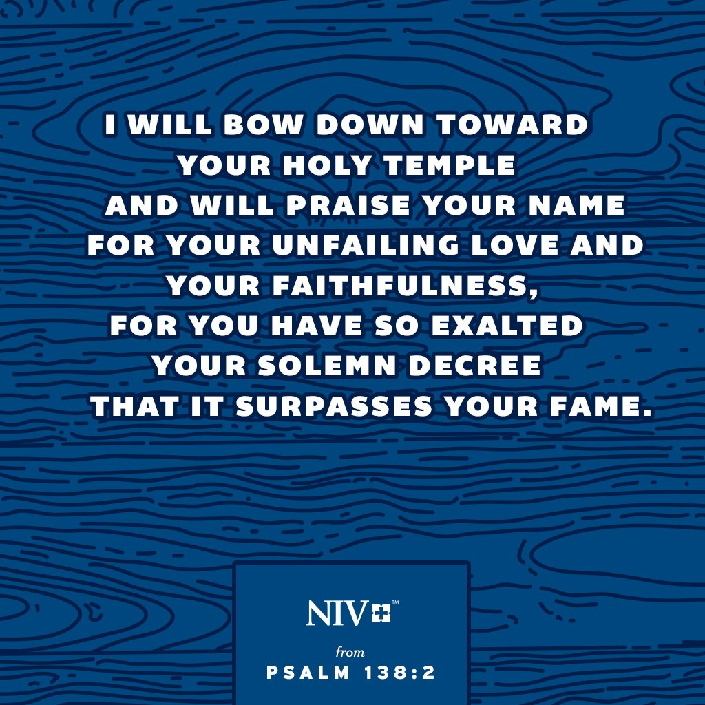 NIV Verse of the Day: Psalm 138:2