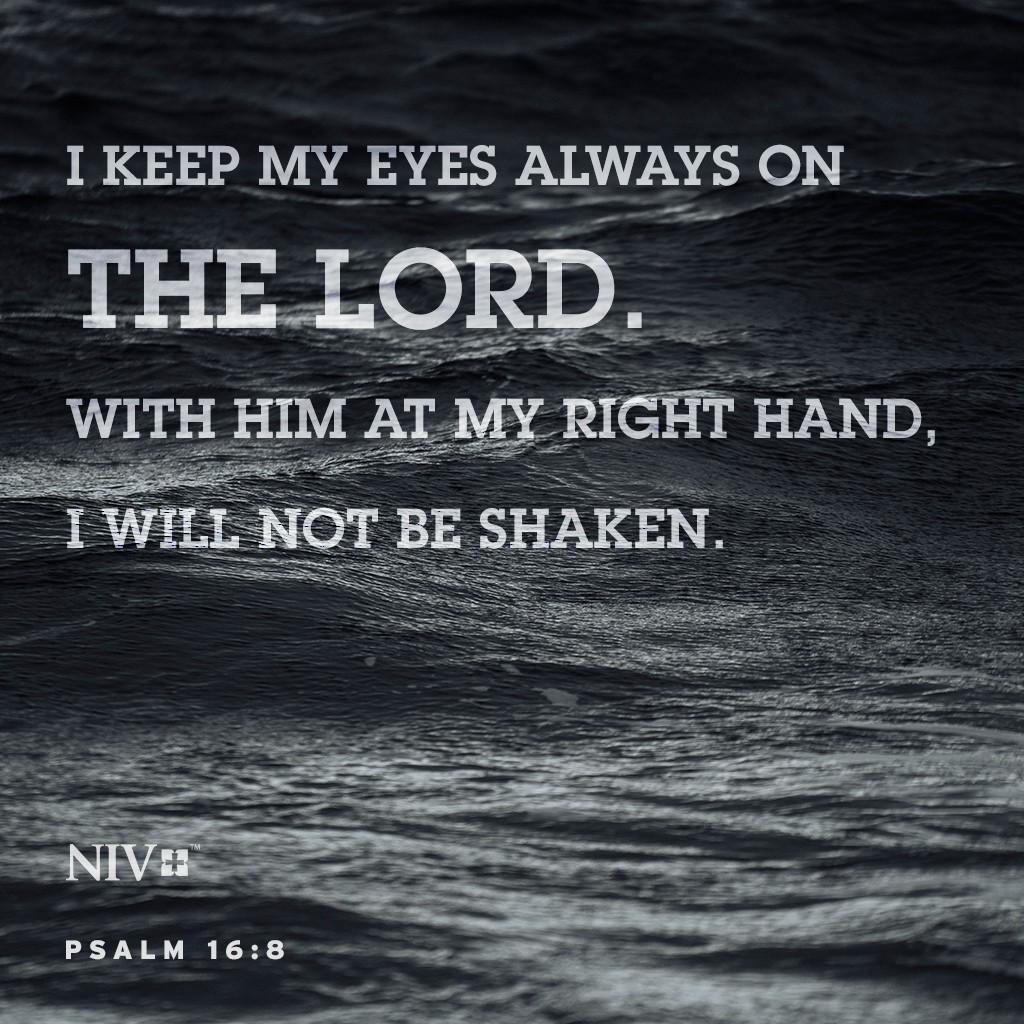 Psalms 16 8 Inspirational Image: NIV Verse Of The Day: Psalm 16:8