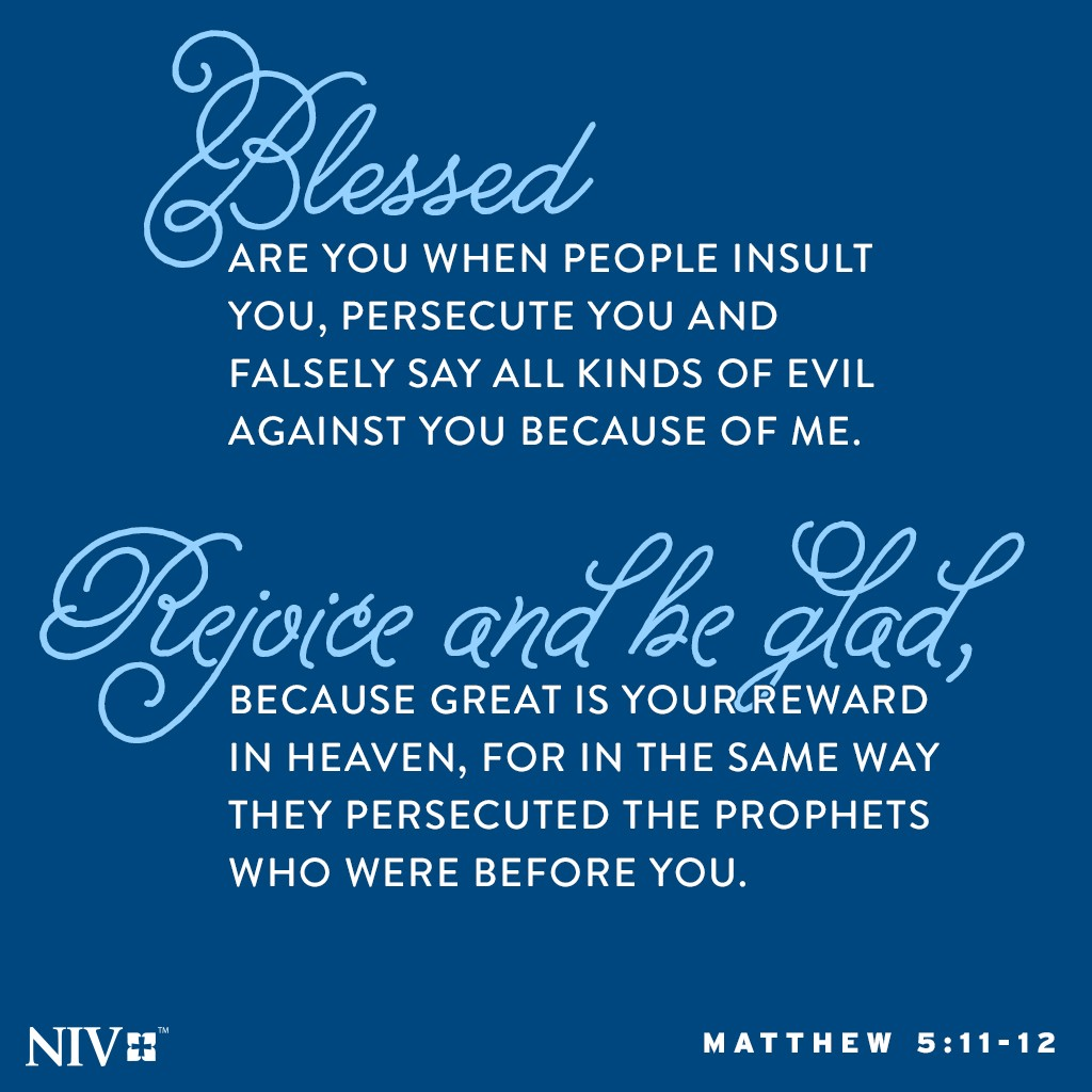 NIV Verse Of The Day Matthew 511 12